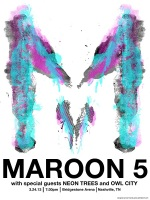 Maroon 5 - 3 color screen print